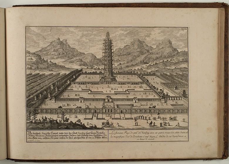 Johann Bernhard Fischer von Erlach: Entwurff Einer Historischen Architectur: Ansicht des Tempels von Nanking
