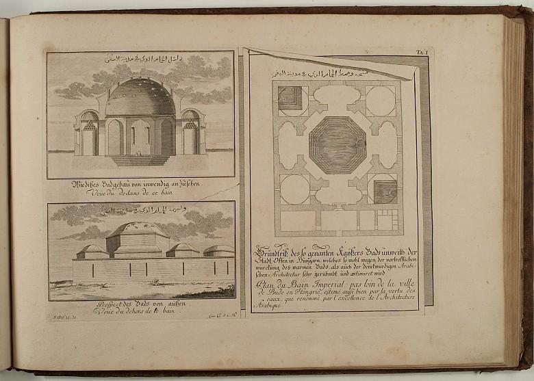 Johann Bernhard Fischer von Erlach: Entwurff Einer Historischen Architectur:  Kaiserbad in Buda, 1725