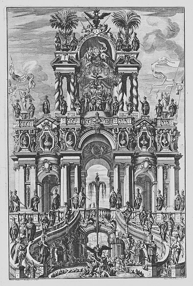 Johann Ulrich Kraus (after Petrus Schubart von Ehrenberg): Allegory on the Holy Roman Empire, copperplate eng…