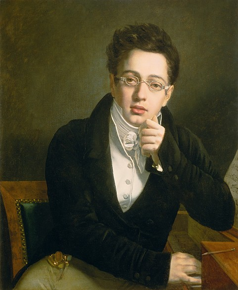 Josef Abel: The young Schubert, painting, beginning of 19th century, oil on canvas