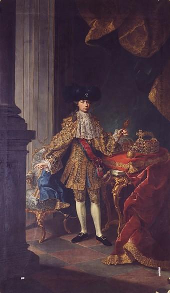 Joseph II. als Jüngling im spanischen Mantelkleid, Ölgemälde, 1764/70