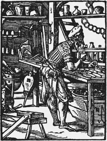 """Jost Amman: Glasser (""""Ständebuch""""), 1568"""