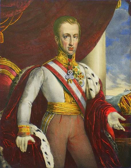 Kaiser Ferdinand I., Lithografie, um 1835