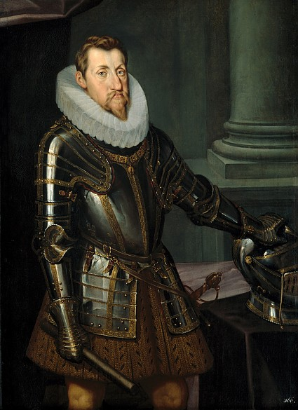 Emperor Ferdinand II (1578–1637) in armour, three-quarter-length portrait, c. 1614