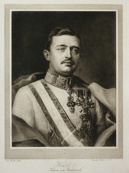 Emperor Karl, postcard, 20th century