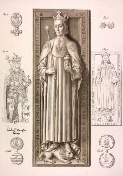 King Rudolf I, ledger in the cathedral at Speyer, lithograph, 1820