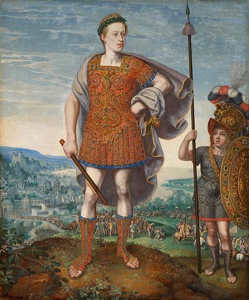 Lucas I. van Valckenborch: Kaiser Matthias als Publius Cornelius Scipio Africanus maior, 1580
