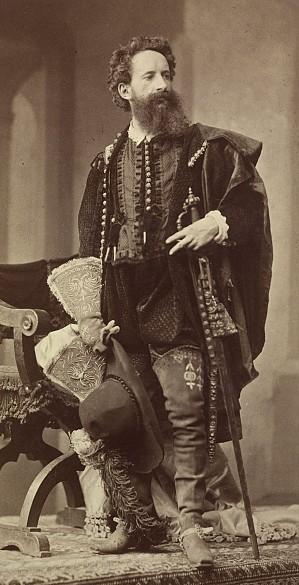 Ludwig Angerer: Hans Makart in Kostümierung der Renaissance, 1879