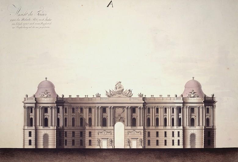 Ludwig Gabriel von Remy: Ansicht der Facade gegen den Michaeler Platz nach Fischer von Erlach