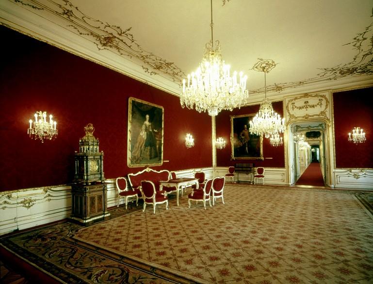 Maria Theresienzimmer (=Reiches Zimmer), heutiger Zustand