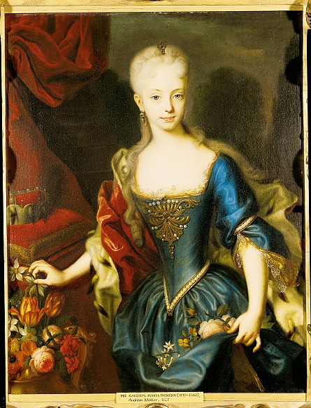 Andreas Moeller: Maria Theresia als Jugendliche, Ölgemälde, vor 1730