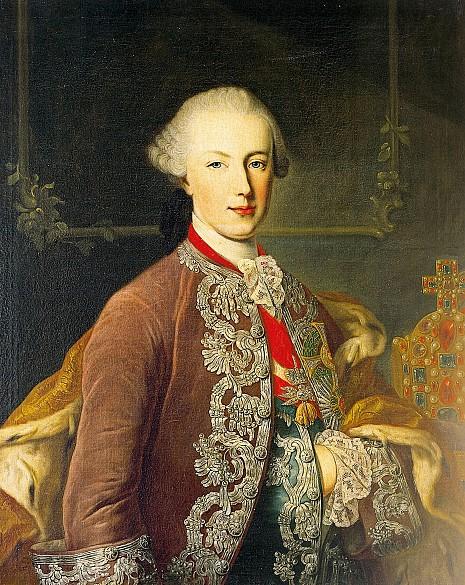 Martin van Meytens (zugeschrieben): Joseph II. als junger Kaiser und Mitregent, Ölgemälde, um 1765