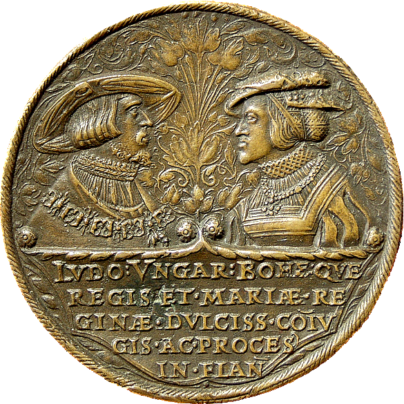 Medal with Louis II and Mary and the Battle of Mohács (obverse), c. 1531/1535