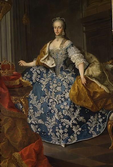 Meytens-Schule: Kaiserin Maria Josepha, zweite Gemahlin Josephs II., 18. Jh., Ölgemälde
