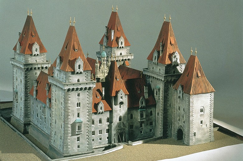 Model of the late medieval Hofburg