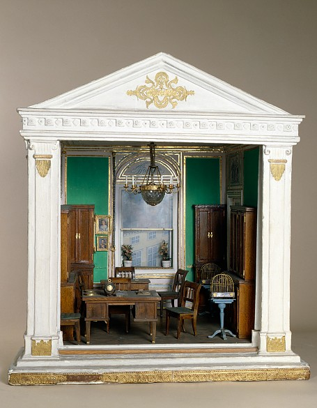 Model of Emperor Franz I's study, made by staff at the Hofmobiliendepot, c. 1900