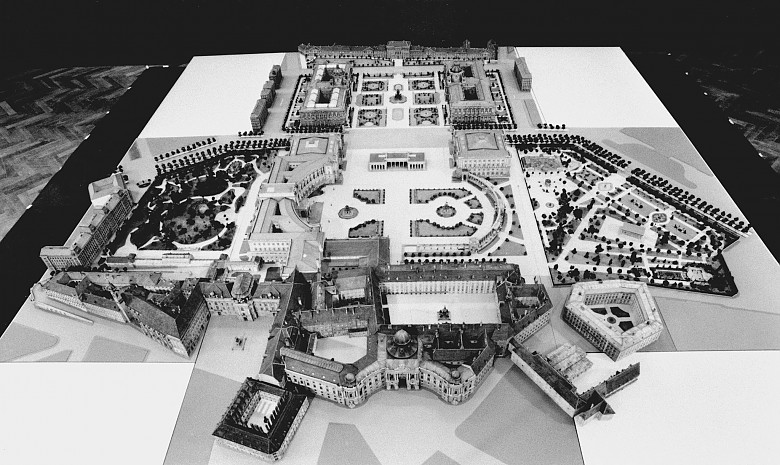 Modell des gesamten Hofburgkomplexes