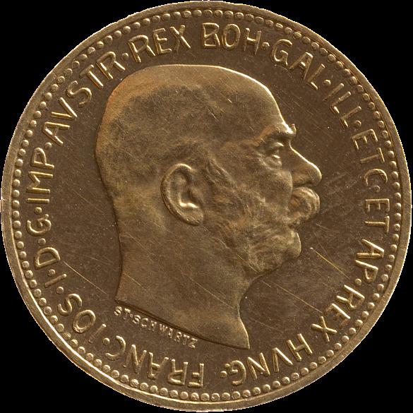 Münze, Gold, 20 Goldkronen, 1916, abgebildete Person: Kaiser Franz Joseph