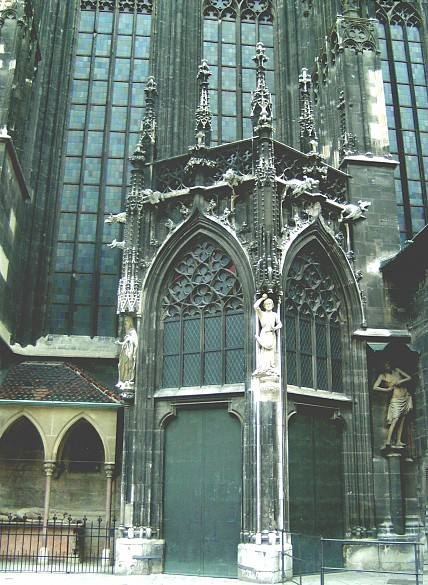 The Neidhart tomb on the south side of St Stephen's Cathedral in Vienna