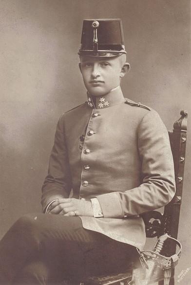 Kaiser Karl I. in jungen Jahren, historische Fotografie