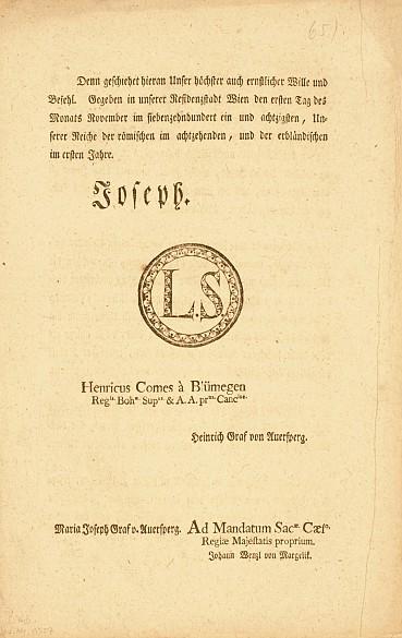 Patent zur Aufhebung der Leibeigenschaft (4)