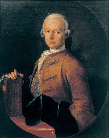 Pietro Antonio Lorenzoni: Leopold Mozart, portrait, c. 1765, oil painting