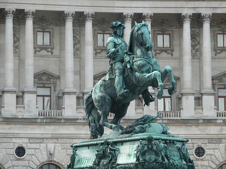 Monument to Prince Eugene on the Heldenplatz in Vienna
