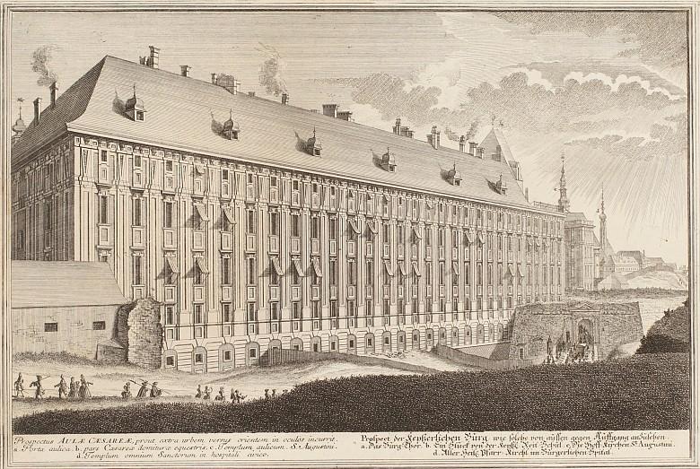 Prospect der kayserlichen Burg, Kupferstich, 17. Jahrhundert