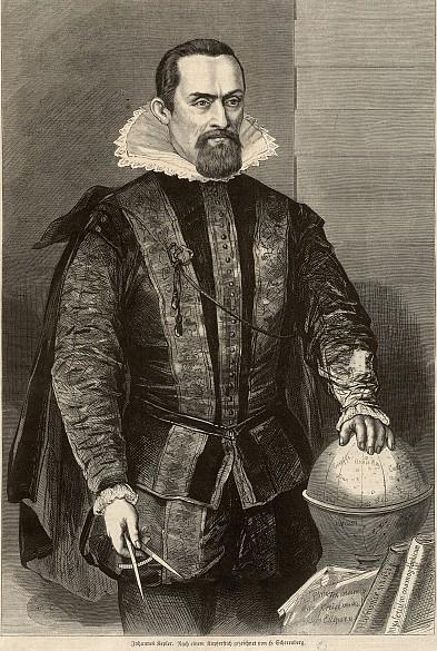 Scherenberg Hermann: Portrait of Johannes Kepler (1571-1630), xylograph