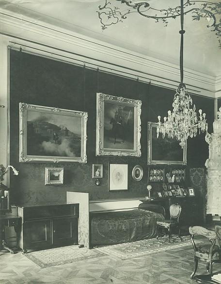 Schlafzimmer Kaiser Franz Josephs in der Hofburg, Foto, um 1900