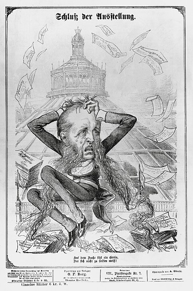 'Close of the exhibition', caricature in the satirical weekly *Kikeriki*, 30 October 1873