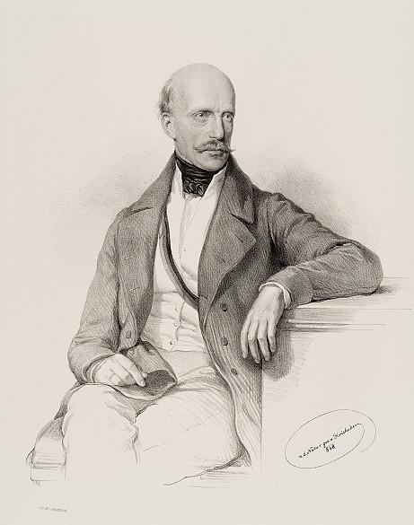 Archduke Johann, lithograph after Josef Kriehuber, 1848