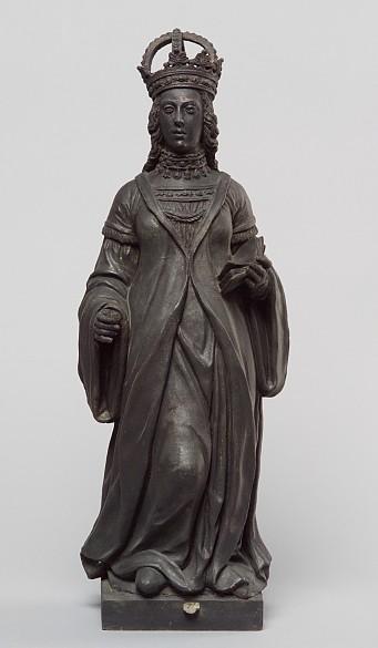 Statue: Elisabeth of Gorizia/Tyrol, 2nd half of 16th century, clay, bronzed