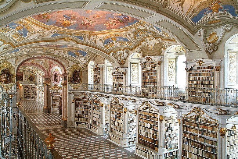 Admont Abbey: Library, viewed from the gallery