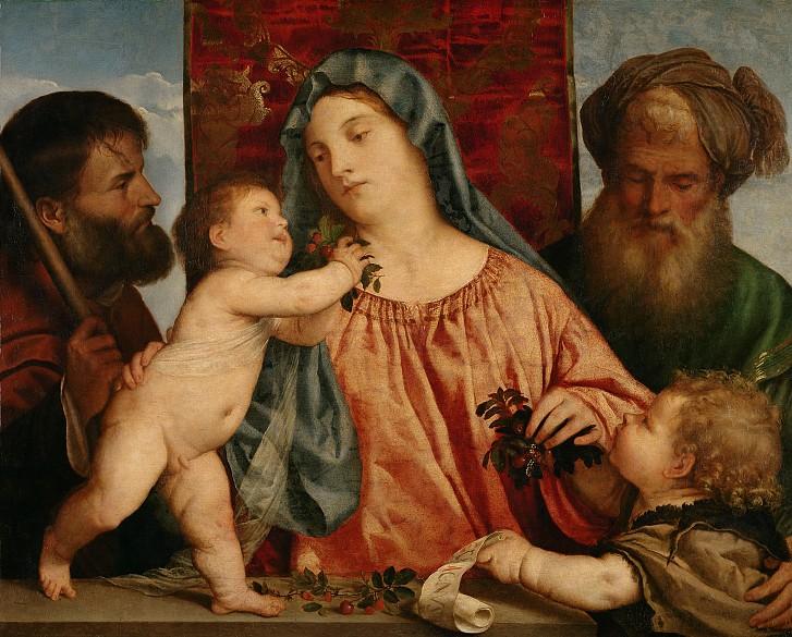 Tizian: Kirschenmadonna, um 1516/18