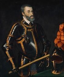 Tiziano Vecellio (genannt Tizian): Kaiser Karl V. im Harnisch, Mitte 16. Jahrhundert