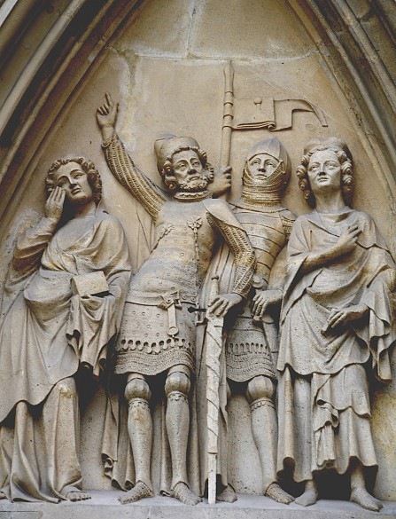 Tympanon in the portal of the Minoritenkirche in Vienna, c. 1340/50