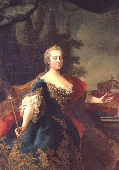 Circle of Martin van Meytens: Maria Theresa as Queen of Hungary, oil painting, c. 1745