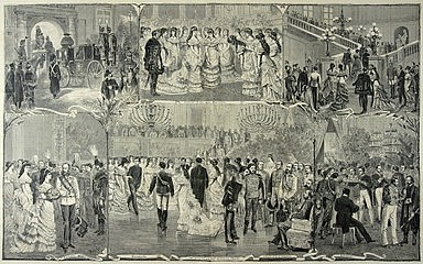 Vinzenz Katzler: Hofball in Wien, Xylografie, 19. Jahrhundert