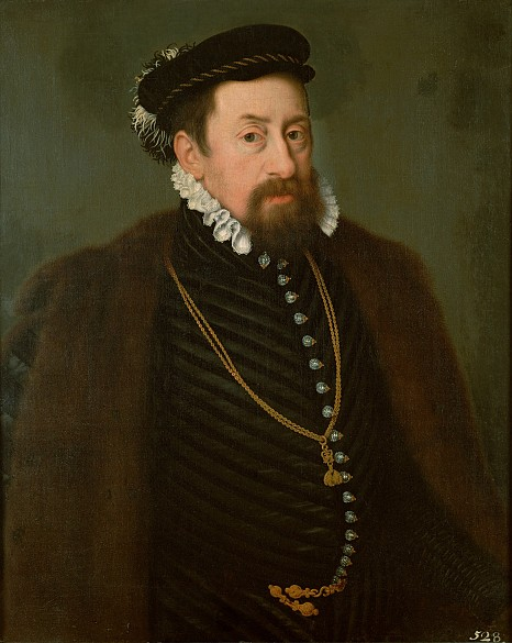 Studio of Nicolas Neufchatel: Emperor Maximilian II at the age of around forty, oil painting, c. 1566