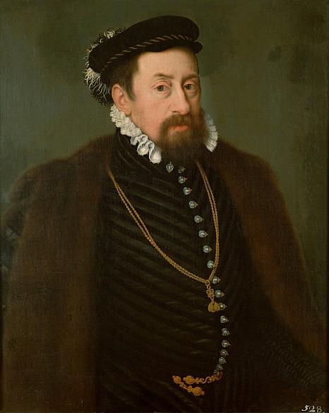 Werkstatt des Nicolas Neufchatel: Kaiser Maximilian II. als etwa Vierzigjähriger, Ölgemälde, um 1566