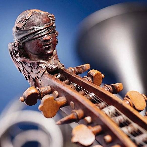 Wertvolle historische Musikinstrumente sind im Bürgerspital ausgestellt