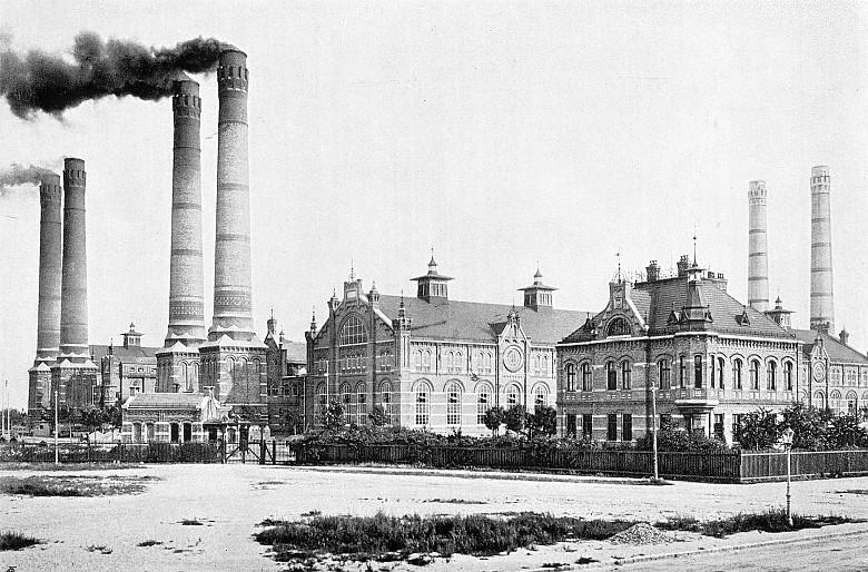 Wiener städtische Elektrizitätswerke. Fotografie, um 1908