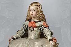 Diego Rodríguez de Silva y Velázquez: Infantin Margarita Teresa (1651–1673) in weißem Kleid, um 1656