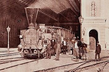 Andreas Groll: Empress Elisabeth Railway Station, 1860