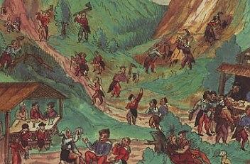 'Freut euch, es ist ein Bergwerk entstanden' ('Rejoice, a mine has come into being'; *Schwazer Bergbuch*), ...