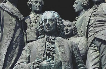 Count Friedrich Wilhelm von Haugwitz on the monument to Maria Theresa in Vienna, erected 1874–1888