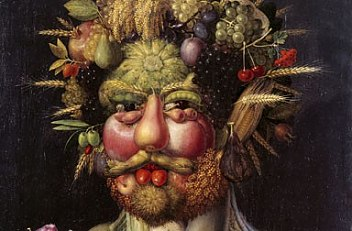 Giuseppe Arcimboldo: Emperor Rudolf II as the harvest god Vertumnus, 1590/91