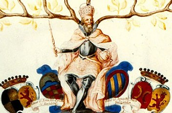 Guilielmo O' Kelly: Genealogical tree of Emperor Charles VI, 18th century