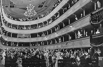 Gustav Klimt: 'Auditorium in the old palace theatre in Vienna', 1888, oil on canvas
